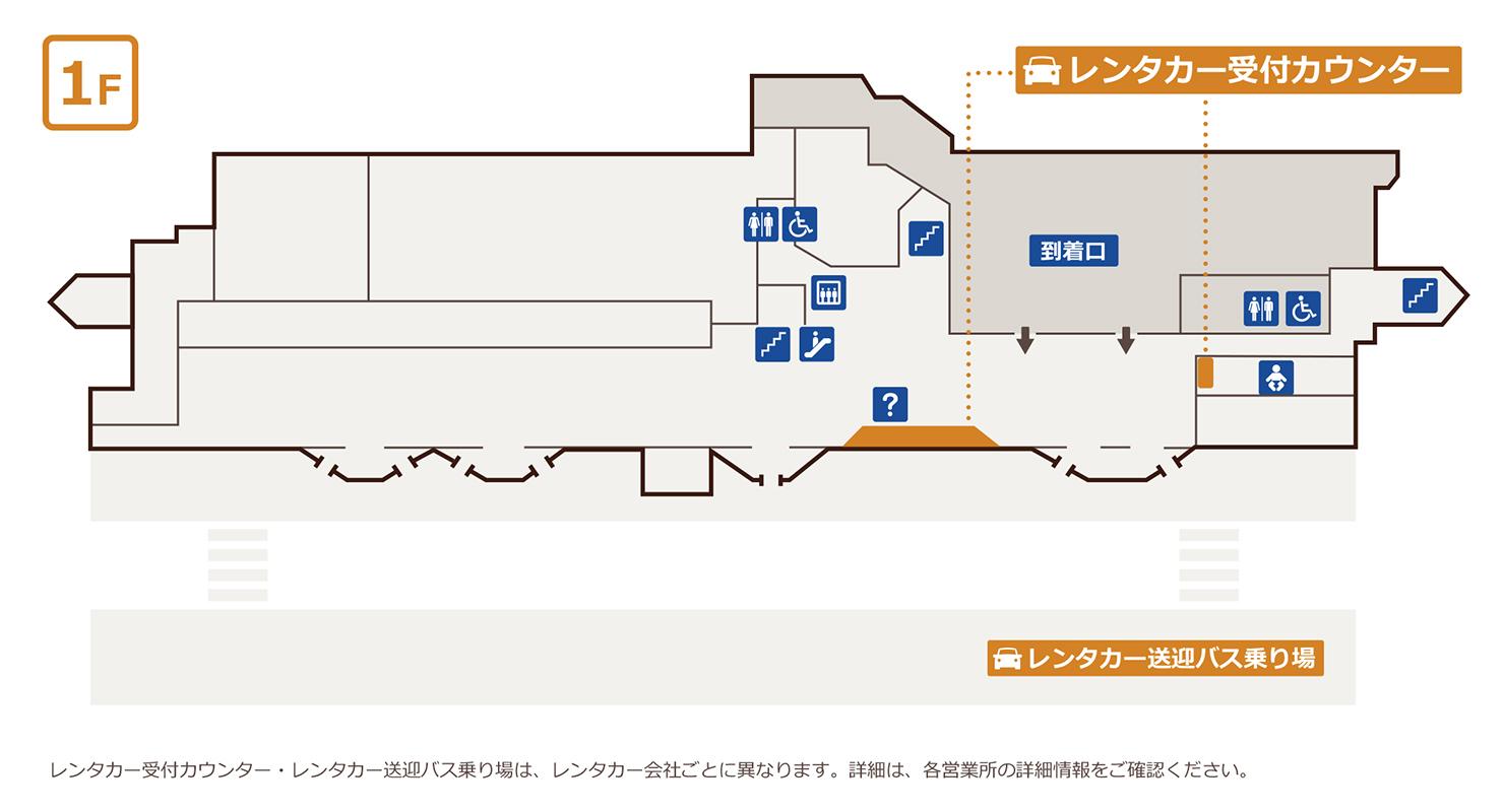 宮古島宮古空港案内マップ